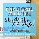 IEP Student Info | Flip Book (Upper Grades)