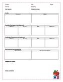 IEP - Student Information Sheet - Editable