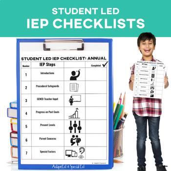 Student Led IEP Checklist SymbolStix