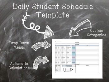 Special Education Student Schedule Template