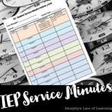 IEP Student Service Level Grid TEMPLATE