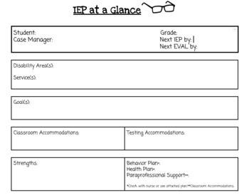 IEP Summary