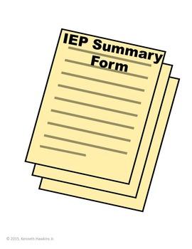 IEP Summary Form