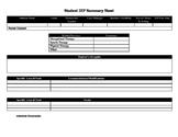 IEP Summary Sheet