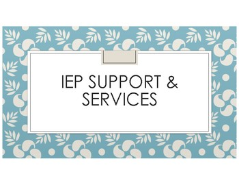 IEP Support & Services