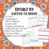 IEP / Special Education Teacher Binder and Planner EDITABLE