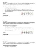IEP Teacher prep Letter