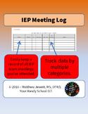 IEP Team Meeting Log