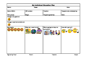 IEP Template - Child Friendly