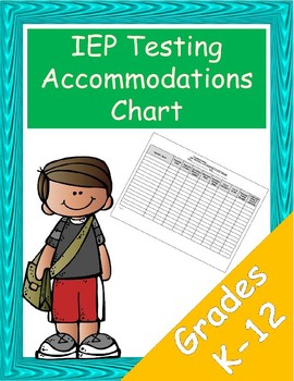 IEP Testing Accommodations Chart
