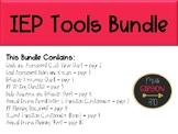 IEP Tools Growing Bundle - 9 EDITABLE Forms and Docs