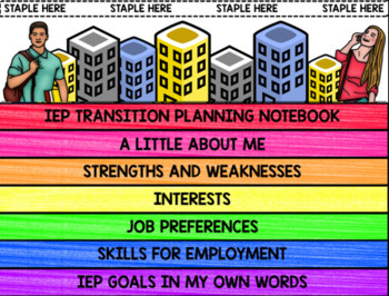 IEP Transition Planning Notebook - Special Education - Vocational - Career Goals