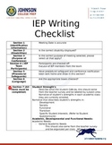 IEP Writing Checklist