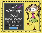 IEP Writing Goal Data Sheets