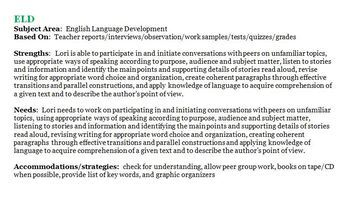 IEP Writing Simplified