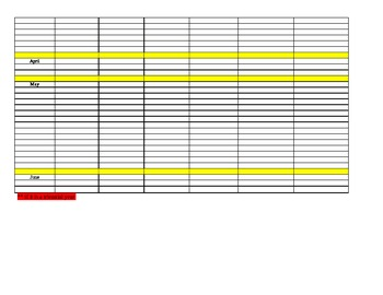 IEP Year Long Scheduler