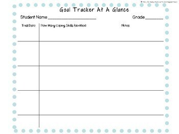 Social and Coping Skill  Goal and Data Collection Forms