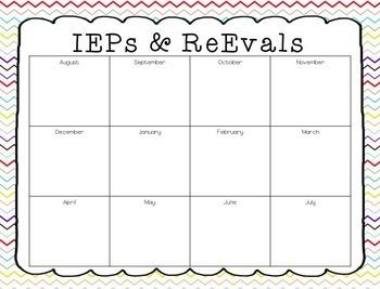 IEP and ReEval Calendar