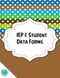 IEP and Student Data Pages