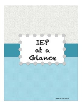 IEP at a Glance