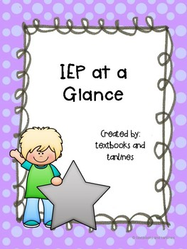 IEP at a Glance - A special education cheat sheet