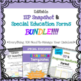 Everything Special Education - IEP at-a-Glance & Special Education Forms BUNDLE!