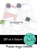 IEP at a Glance Template