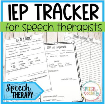 IEP at a Glance for Speech-Language Pathologists