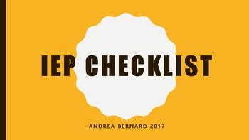 IEP checklist for classroom