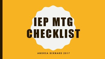 IEP checklist for individuals