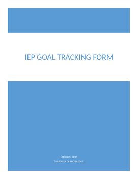 IEP data collection