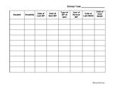IEP date grid