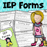 IEP planning forms for special education {Printables}