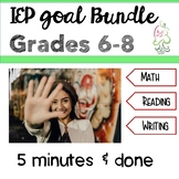 IEP goal bundle middle grades - Sixth, Seventh, Eighth