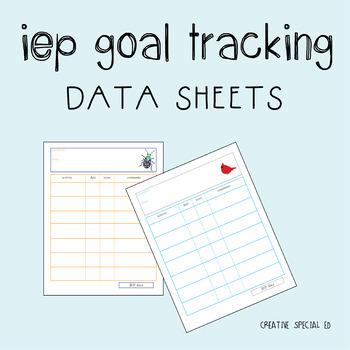 IEP goal progress tracking sheets
