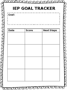 IEP goal tracker- EDITABLE! FREEBIE!