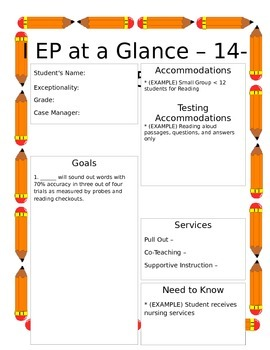 IEP in a Glance