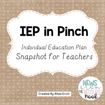 IEP in a Pinch