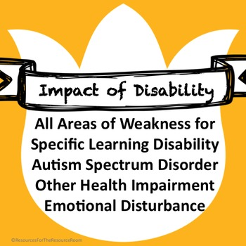 IEP inserts: Impact of Disability