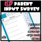 IEP parent survey