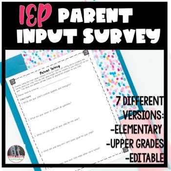 IEP parent survey