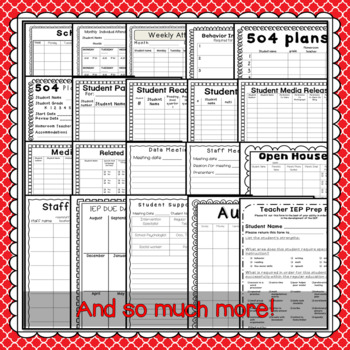 IEP planning forms AND Intervention Forms in one great product: Editable