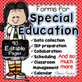 IEP planning forms AND Intervention Forms in one great pro