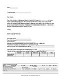 IEP scheduling note to Parents