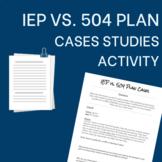 IEP vs. 504 Plan Case Studies Activity