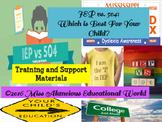 Professional Development: IEP vs. 504 Plan Training and Su