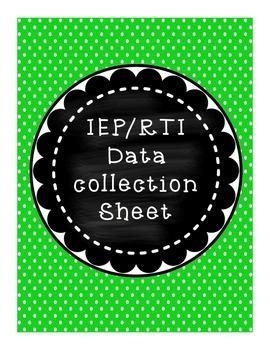 IEP and RTI Progress Monitoring Charts