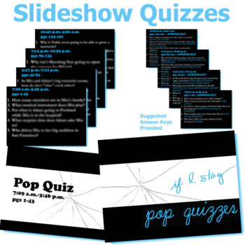 IF I STAY 5 Pop Quizzes Bundle