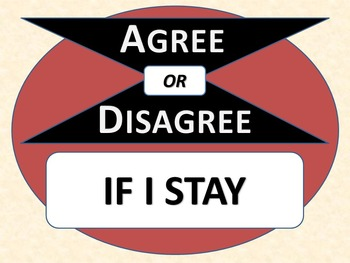 IF I STAY - Agree or Disagree Pre-reading Activity