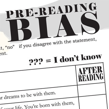 IF I STAY PreReading Bias Discussion Activity
